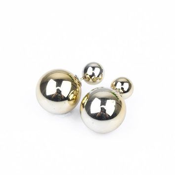 Paragraph Selling Earrings Double Side Shining Pearl Stud Earrings Big Pearl Earrings For Women