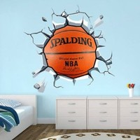 Wrecking Basket Ball Decal - 44.1 X 40.2 Inches
