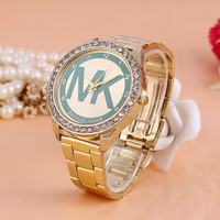 Fashion Alloy Watch Diamonds Quartz Watch [6407504516]