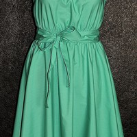 Turquoise 40s 50s Rockablly Swing Pin Up Dress US Plus Size 22 24 26 Mint Green