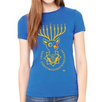 Ames Bros Women's Happy Christmahanukwanzaakah! T-Shirt