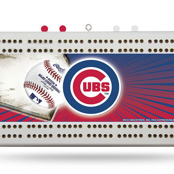 CHICAGO CUBS FIELD CRIBBAGE BOARD