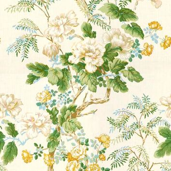 Lee Jofa Fabric 2009164.431 Chinese Peony Gold