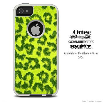 The Yellow Cheetah Print Skin For The iPhone 4-4s or 5-5s Otterbox Commuter Case