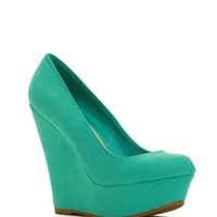 Sale- Turquoise Passion Platform Wedges