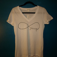 forever young infinity printed t-shirt