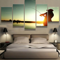 Relax and Fish Canvas Set