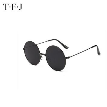 Vintage Gothic Round Sunglasses Men Steampunk Carving Flower Metal Frame Coating Mirrored Glasses Retro Male Sunglasses