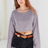 Ecote Cassy Overdyed Cropped Top | Urban Outfitters