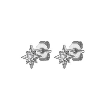 North Star Studs in Sterling Silver