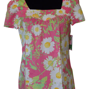 Lilly Pulitzer Floral Top Size XS NWT