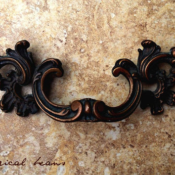 """French Provincial Brass 5"""" Pull /  Waterfall Style Keeler Brass Co / Vintage Restoation Hardware for Furniture, Cabinets, Dressers & Decor"""