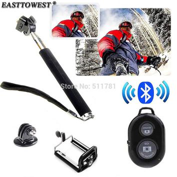 Easttowest Extendable Monopod + Phone Holder + Gopro Tripod+ Wireless Bluetooth Remote Shutter For IOS Android Smart Phone