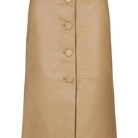 **Romilly Midi Skirt By Unique - Camel