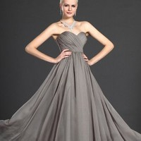 Gray Evening Gown by Svetlana