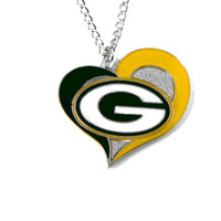Green Bay Packers Women's Swirl Heart Necklace