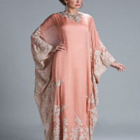 Real Photo Gorgeous Brides Mother Dresses For Weddings Chiffon Appliques Orange Dubai Kaftan Muslim Evening Gown Plus Size