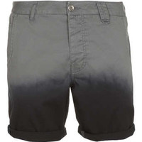 Grey Dip Dye Chino Shorts