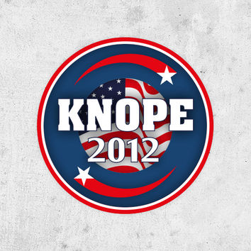 "Lesley Knope Sticker! ""Knope 2012"", parks and recreation, Amy Poehler. pawnee city council election"