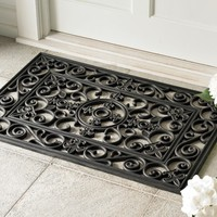 Fleur-de-lys Rubber Doormats and Stair Treads