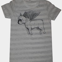 Flying French Bulldog Womens T-Shirt Small, Medium, Large, XL in 9 Colors