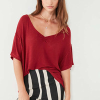 UO Leto Ruched-Front Tee   Urban Outfitters