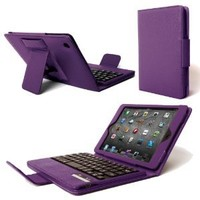 Poetic KeyBook Bluetooth Keyboard Case for iPad Mini /iPad Mini 2 with Retina Display Purple (With Auto Sleep/Wake Function) (3 Year Warranty from Poetic)