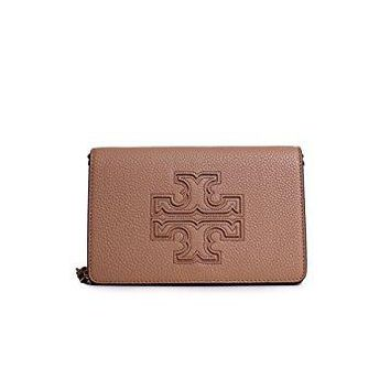 Tory Burch Harper Flat Wallet Crossbody in Vintage Camel