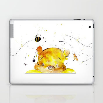 Yellow Bear Laptop & iPad Skin by MIKART