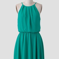 Lagoon Chiffon Dress