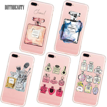 Ultra Thin COCO Perfume Phone Case Coque for iPhone 6 7 5S 6S 6Plus 7Plus Soft Silicone Clear Transparent TPU Back Cover Fundas