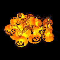 3M 16pcs Pumpkin Halloween String Lights yellow color AA battery power Props Decorations Supplies Home Party Decor F