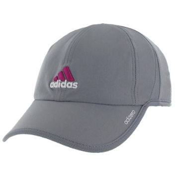 adidas Women's Adizero II Cap, Tech Grey/Clear Grey/Vivid Pink, One Size