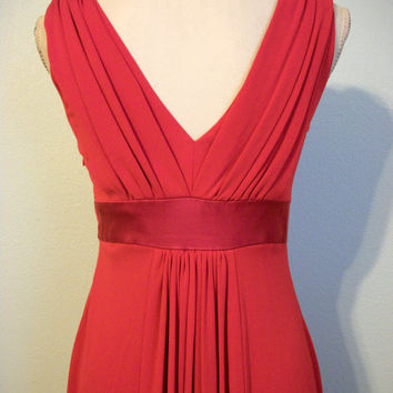 Red Cocktail Dress Sexy Dress Party Dress Designer Old Hollywood Cruise Clothing Christmas Dress K Unger Size 6 Petite Small Womens Clothing