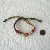 Hippie Hemp Bracelet Hemp Anklet Adjustable Bracelet Men Women Bracelet Multilayer Bracelet Red Green Brown Blue Hippie Hemp Anklet Rasta