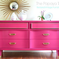 Hand crafted made to order in any size and color dresser in Lacquer finish