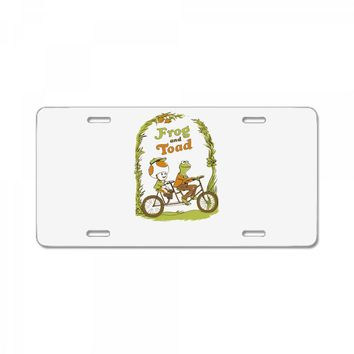 frog & toad License Plate