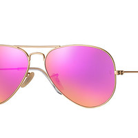 Ray-Ban AVIATOR FLASH LENSES Gold, Metal Flash RB3025 | Ray-Ban® USA