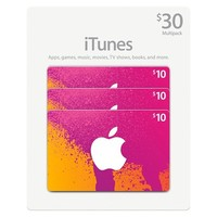 $30 iTunes Gift Card Multi Pack (3x10)