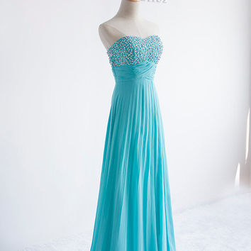 A-line Sweetheart Prom Dresses Elegant Evening Gowns Formal Party Dresses Red Carpet Gowns Wedding  Beaded formal dress Custom dresses