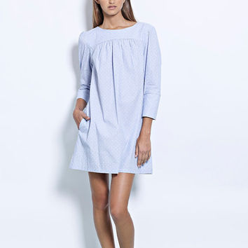 Formal dress, Shift dress, Cocktail dress, light blue dress, Winter dress, Party dress, Womens dress, 3/4 sleeve dress