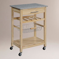 Natural Newhall Kitchen Island - World Market