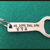 Personalized Key Chain | Father's Day | Engraved Keychain | Gifts for Dad | Christmas Gift | Anniversary Gifts for Him |  Father Gifts