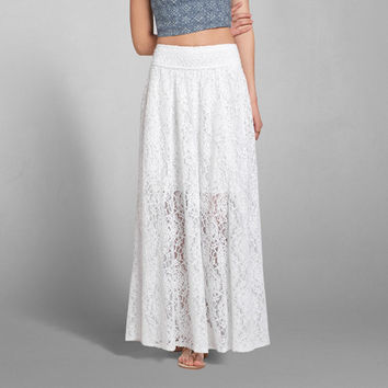 Floral Lace Maxi Skirt