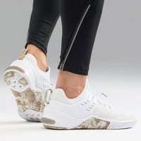 Nike Training Metcon Free Trainers In White Camo AH8141-103 at asos.com