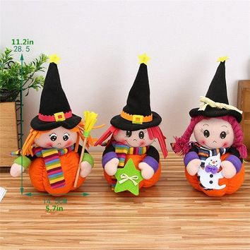 New Halloween Decorations Cute Pumpkin Girls Dolls Kids Gift Plush Toys Featival Events Supplies for Haunted House Bar KTV Home