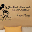 Disney Mickey Mouse It's Kind Of Fun To Do wall quote vinyl wall decal sticker
