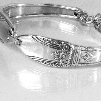 Silver Spoon Bracelet, Free Shipping, Antique Silver Bracelet FIRST LOVE ,Spoon Vintage Jewelry,Silverware bracelet, silver bracelet