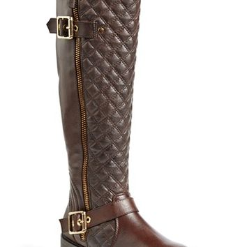 Women's Steve Madden 'Willits' Quilted Moto Boot,