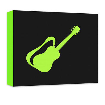 Guitar with Strap Children's Canvas Wall Art